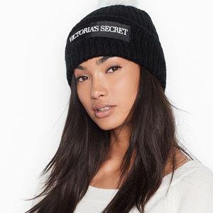 Victoria Secret Logo Pom-Pom Hat OS NWT